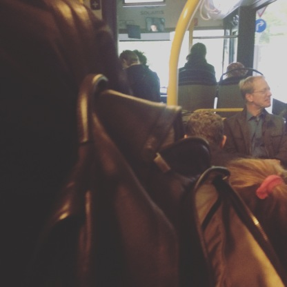 Volle Shuttlebusses.